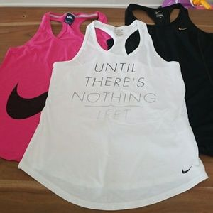 Lot of 3 Nike workout tank tops